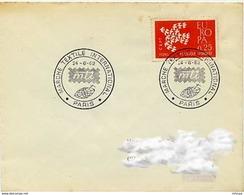 CL330 Cachet Comm GF/ YvT 1309 Marché Textile International Paris  24 06 1962 - Marcophilie (Lettres)