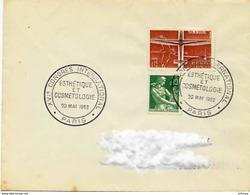 CL332 Cachet Comm GF/ YvT 1340 Esthétique Et Cosmétologie XVIè Congrès Paris  20 05 1962 - Marcophilie (Lettres)