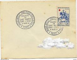CL372 Cachet Comm GF/ YvT 1279 Musée Des Arts Et Traditions Populaires Paris 08 10 1964 - Marcophilie (Lettres)