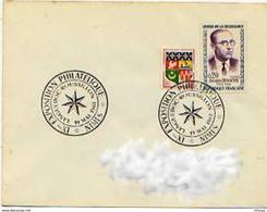 CL623 Cachet Comm. GF/YvT 1288 Exposition Philatélique 19 05 1961 Nimes - Marcophilie (Lettres)