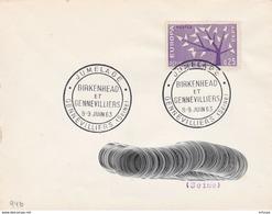 CL750 Cachet Comm. GF/ YvT 1358 Jumelage Birkenheaud 08-09 06 1963 Gennevilliers Seine - Marcophilie (Lettres)
