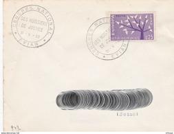 CL751 Cachet Comm. GF/YvT 1358 Congrès Huissiers De Justice 31 05 1963 Evian - Marcophilie (Lettres)