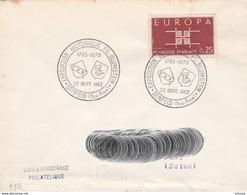 CL763 Cachet Comm. GF/YvT 1396 Expo Historique FD Blumstein 22 12 1963 Benfeld Bas Rhin - Gedenkstempels