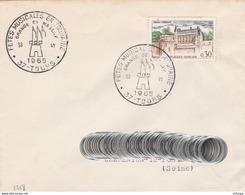 CL1017 Cachet Comm. GF/YvT 1390 Fêtes Musicales En Touraine  30/06/1965 37 Tours - Marcophilie (Lettres)