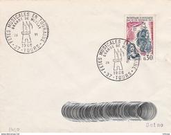 CL1123 Cachet Comm. GF/YvT 1461 Fêtes Musicales En Touraine 20 06 1966 37 Tours - Marcophilie (Lettres)