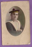 Photo Militaria Militaire  Cuirassé Condorcet Marin Matelot Edit Adolph Toulon -   Photo Cornée - Bachi - - Personnages
