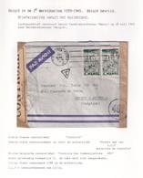 DDX 023 - INCOMING MAIL APRES GUERRE - Enveloppe TP Maroc CASABLANCA 1945 à Anvers - Censure Belge + Lille Controlé LLY - WW II