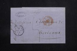 ITALIE - Lettre De Livorno Pour La France En 1860, Cachet D'entrée Par Culoz - L 60838 - Toskana
