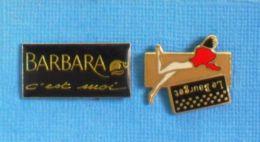2 PIN'S //  ** BARBARA C'EST MOI / LE BOURGET LINGERIE ** - Parfums