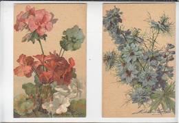 Fantaisie / Fleur Par Illustrateurs / Lot De 2 CP / Pargs Driesten Et ? / éditeur Lapina - Autres