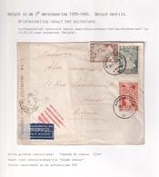 DDX 031 - INCOMING MAIL APRES GUERRE - Enveloppe TP Grèce AMAROUSION 1945 Vers Anvers - Censure Grecque - WW II