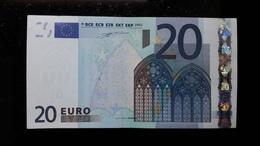 Billet 20 EURO 2002 W. DUISENBERG BELGIQUE Z T002  A Peu Circulé AU/UNC - EURO