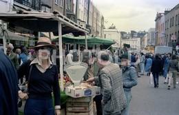 80s MARKET PLACE CAMBRIDGE UK ENGLAND AMATEUR 35mm ORIGINAL NEGATIVE Not PHOTO No FOTO - Fotografia