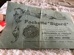 Enveloppe Vide En L'état Pochette Sigurd Carte Postale Artistique Propriété Exclusive Papier Sigurd - Sonstige
