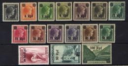 Luxemburg 1940 Mi 17-32 ** (28 (*)) [160520II] - Occupation 1938-45