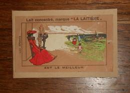 """Chromo. Lait Concentré """"La Laitière"""". - Trade Cards"""