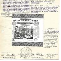 Marque Déposée 1919 (couleur, Emballage..) Tribunal De LUNEVILLE / 54 BAYON / 67 BENFELD / Chicorée VOELCKER-COUMES - Alimentaire