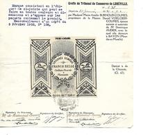 Marque Déposée 1921 (couleur, Emballage..) Tribunal De LUNEVILLE / 54 BAYON / 67 BENFELD / Chicorée VOELCKER-COUMES - Alimentaire