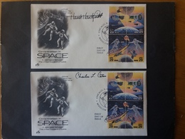 UNITED STATE US USA1992 Space Adventure - Joint Issue With Russia FDC FROM NASA AUTOGRAPH ASTRONAUTS - Premiers Jours (FDC)