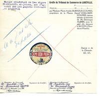 Marque Non Déposée 1922 (couleur, Emballage..) Tribunal De LUNEVILLE / 54 BAYON / 67 BENFELD / Chicorée VOELCKER-COUMES - Alimentaire