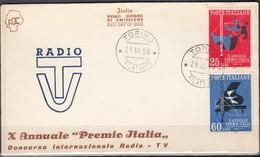 Italy - FDC X Annuale ''Premio Italia'' - Concorso Internazionale Radio - TV. MiNr. 1028-1029, Torino 29.12.1958. - 1946-.. République