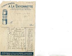 """Lot De 3 Facturettes  / 54 BAYON / Chicorée VOELCKER-COUMES """"A LA BAYONNETTE"""" - Alimentaire"""