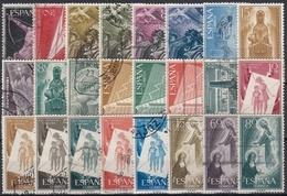 ESPAÑA 1956-1957 Nº 1185/1208 AÑOS COMPLETOS USADOS 24 SELLOS - Espagne