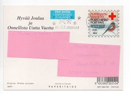 Postal Stationery RED CROSS - FINLAND - CHRISTMAS - STAMP BIRD / BULLFINCH - USED - SPR 1996 FRK - Finland