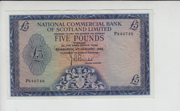 AB158 National Commercial Bank Of Scotland Ltd £5 Note 4 January '68 #P640748 - 5 Pounds