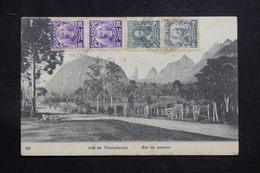 BRÉSIL - Affranchissement De Rio De Janeiro Sur Carte Postale Pour La France - L 60871 - Briefe U. Dokumente