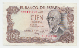 SPAIN 100 PESETAS 1970 VF++ P 152 - [ 3] 1936-1975 : Régimen De Franco