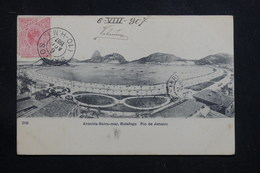BRÉSIL - Affranchissement De Santos Sur Carte Postale Pour La France En 1907 - L 60872 - Briefe U. Dokumente