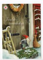 Postal Stationery RED CROSS - FINLAND - CHRISTMAS - GNOME - STAMP BIRDS / BULLFINCHES - USED - ARTIST INGE LÖÖK - Finland