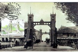 30a: Singapore Cavanagh Steel Truss Road Bridge, Carte Maximum Card Maxicard MC - Ponti