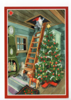 Postal Stationery RED CROSS - FINLAND - CHRISTMAS - GNOME & CAT - STAMP BIRDS / BULLFINCHES - SPR 2001 FRK - INGE LÖÖK - Finland