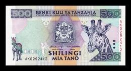 Tanzania 500 Shilingi Jirafa 1997 Pick 30 SC UNC - Tanzanie