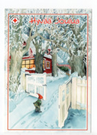 Postal Stationery RED CROSS - FINLAND - CHRISTMAS - GNOME - STAMP BIRDS / BULLFINCHES - USED 2008 - INGE LÖÖK - Finland