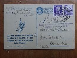 REGNO - Cartolina In Franchigia Formato Piccolo Viaggiato Con Posta Aerea + Spese Postali - 1900-44 Victor Emmanuel III