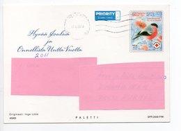 Postal Stationery RED CROSS - FINLAND - CHRISTMAS - STAMP BIRD / BULLFINCH - CHURCH - USED 2010 - INGE LÖÖK - Finland
