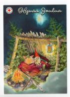 Postal Stationery RED CROSS - FINLAND - CHRISTMAS - GNOME & PIG - STAMP BIRDS / BULLFINCHES - USED 2011 - INGE LÖÖK - Finland
