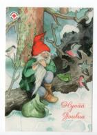 Postal Stationery RED CROSS - FINLAND - CHRISTMAS - GNOME & BIRDS - STAMP BIRDS / BULLFINCHES - USED 2005 - INGE LÖÖK - Finland