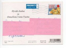Postal Stationery RED CROSS - FINLAND - CHRISTMAS - GNOME - STAMP BIRDS / BULLFINCHES - USED 2001 - INGE LÖÖK - Finland