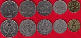 Kyrgyzstan Set Of 5 Coins: 50 Tyiyn - 10 Som 2008-2009 UNC - Kirguistán