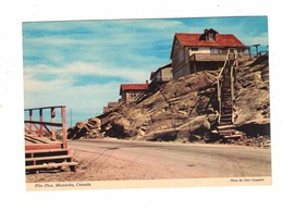 FLIN FLON, Manitoba, Canada, Steps Up To Houses, Old 4X6 Chrome Postcard - Other