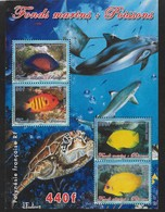2005  Polynésie Française N° BF  31  Nf** MNH . Faune Marine. Poissons . - Blocks & Kleinbögen