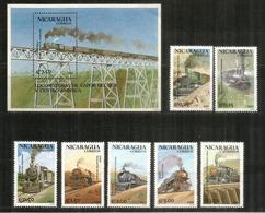 Locomotives Célèbres Amérique Du Sud (Perou,Bolivie,Bresil,Chili,Argentine,Paraguay,Colombie,Guatemala,etc)série + BF** - Trains