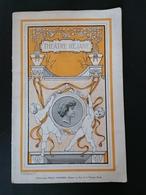 Programme. Théâtre Réjane. Le Risque. Saison 1909 - Programs