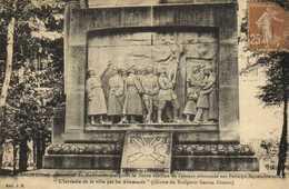 SENLIS (Oise) Bas Relief Du Monument Marquant La Limite Extreme De L'avance Allemande Sur Paris ( 2 Sept 1914) RV - Senlis
