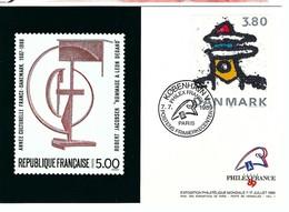 BICENTENAIRE DE LA REVOLUTION FRANCAISE 1789-1989: CP Du Danemark Obl. PJ  De L'Exposition ''Philexfrance '89''  TTB - Franz. Revolution
