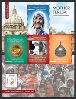 Grenada Ca. Pe. 2011 MNH SS, Bharat Ratna To Mother Teresa Nobel Peace Winner - Mother Teresa